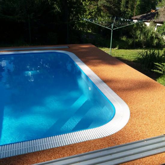Bazén Černošice - mramorový kámen