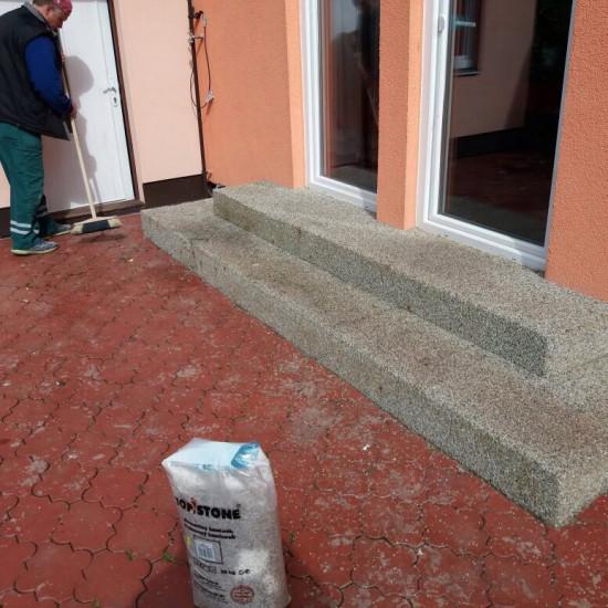 Pokládka mramoru Arabescato - Kolovraty